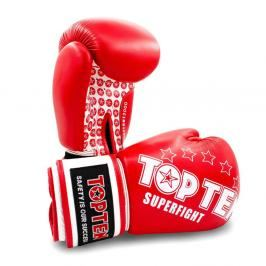 Boxerské rukavice Top Ten Superfight Stars - červená/bílá červená 12