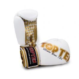 Boxerské rukavice Top Ten Women Fight - bílá/zlatá bílá 12