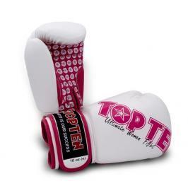 Boxerské rukavice Top Ten Women Fight - bílá/růžová bílá 12