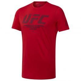Reebok UFC Fan Gear Logo triko - červená červená S
