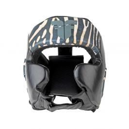 Přilba Fighter Sparring Pro Jungle Series - Zebra černá M