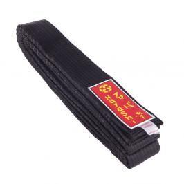 Saténový karate pásek - černý černá 260