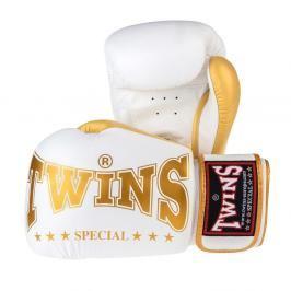 Boxerské rukavice Twins - bílá/zlatá bílá 16