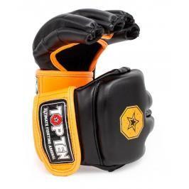 MMA Rukavice - TOP TEN Striking C-Type - černá/oranžová černá M