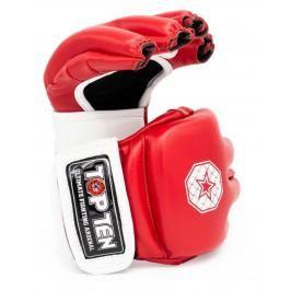 MMA Rukavice - TOP TEN Striking C-Type - červená/bílá červená S