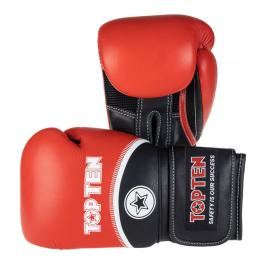 Boxerské rukavice Top Ten 4Select - červená/černá červená 16