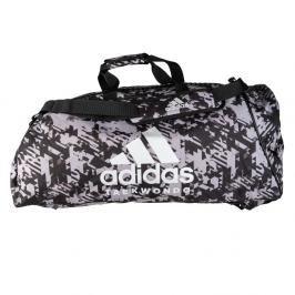 Sportovní taška adidas Taekwondo 2in1 - černá/bílá černá L