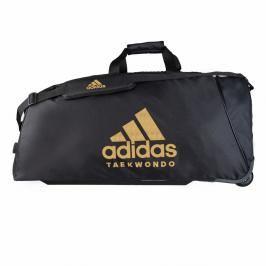 Taška adidas na kolečkách - TKD TROLLEY - černá/zlatá černá