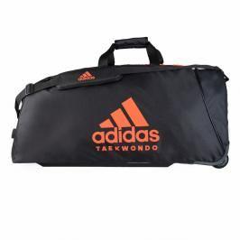 Taška adidas na kolečkách - TKD TROLLEY - černá/oranžová černá