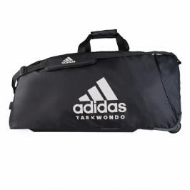 Taška adidas na kolečkách - TKD TROLLEY - černá/bílá černá