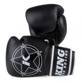 King Pro Boxing boxerské rukavice Vintage 2 - černá černá 10