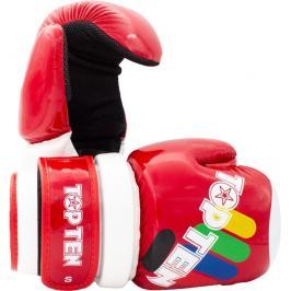 Otevřené rukavice Top Ten Glossy ITF - červená červená S