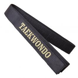 Saténový pásek s vyšitým nápisem TAEKWONDO černá