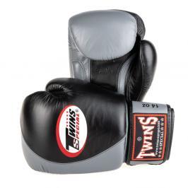 Boxerské rukavice Twins - černá/šedá černá 10
