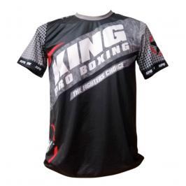 Tréninkové triko King ProBoxing Star Vintage Stone - černá/šedá černá Junior S