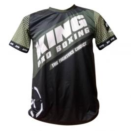 Tréninkové triko King ProBoxing Star Vintage Stone - černá/khaki černá Junior S