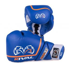Boxerské sparingové rukavice Rival Ergo Laces - modré modrá 14
