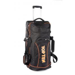 Taška na kolečkách TOP TEN - černá/oranžová černá