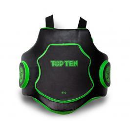 Tréninkový pás pro trenéry Top Ten - černá/zelená černá