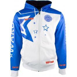 Mikina s kapucí WAKO - bílá/modrá bílá XS