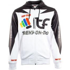 Mikina s kapucí Taekwon-do ITF - bílá/černá bílá S