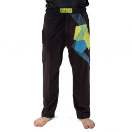 Kalhoty Fighter - FIGHT - černá/modrá černá XXXS