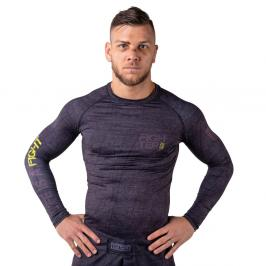 Rash guard Fighter - Life is a Fight - šedá šedá XS