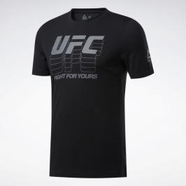 Reebok UFC FG Logo Triko - černá černá S