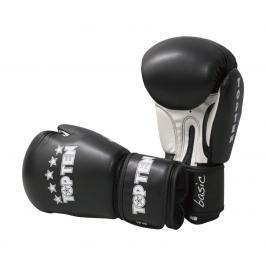Boxerské rukavice Top Ten Basic - černá/bílá černá 10