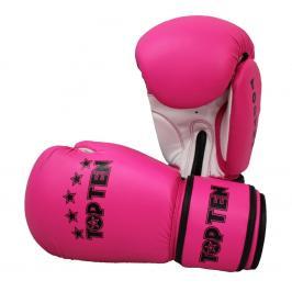 Boxerské rukavice Top Ten Basic - růžová růžová 10