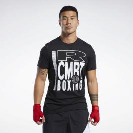 Reebok Combat Boxing triko - černá černá S