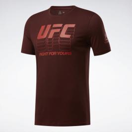 Reebok UFC Logo triko - bordó bordó S