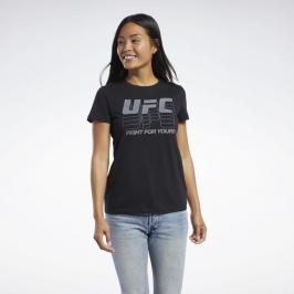 Reebok UFC Logo dámské triko - černá černá XS