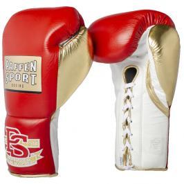Paffen Sport boxerské rukavice PRO MEXICAN Professional - červená/zlatá červená 10