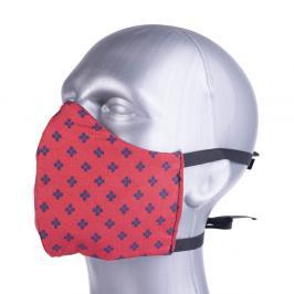 Ochranná bavlněná rouška s filtrem z nanovlákna - červená červená S