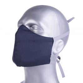 Ochranná bavlněná rouška s filtrem z nanovlákna - modrá modrá L