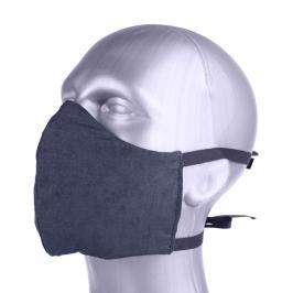 Ochranná bavlněná rouška s filtrem z nanovlákna - černá černá S