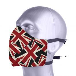 Ochranná bavlněná rouška s filtrem z nanovlákna - Anglie mix barev S