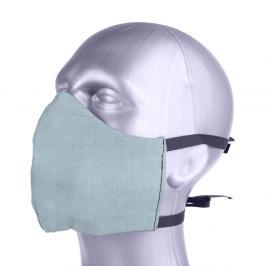 Ochranná bavlněná rouška s filtrem z nanovlákna - mint bledě modrá S