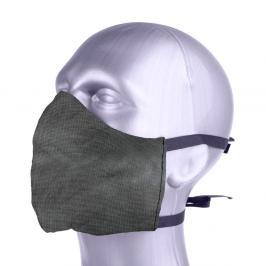 Ochranná bavlněná rouška s filtrem z nanovlákna - šedá šedá S