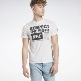 Reebok UFC Fan Gear triko - bílá bílá XXL