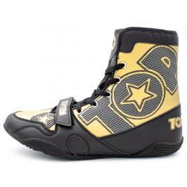 Boxerská obuv Top Ten - černá/zlatá černá 36