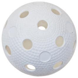 Florbalový míček Fatpipe bílý