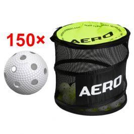 150x florbalový míček Salming Aero Plus + vak Salming Ball Bag
