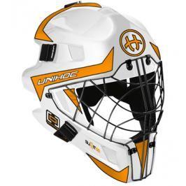 Maska Unihoc Optima 66 Bílo-oranžová