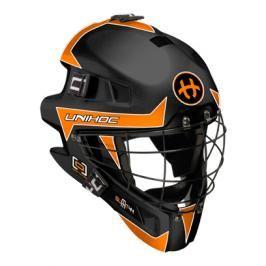 Maska Unihoc Feather 44 Černo-oranžová