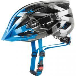Cyklistická helma Uvex I-VO C tmavě stříbrná-modrá 2017