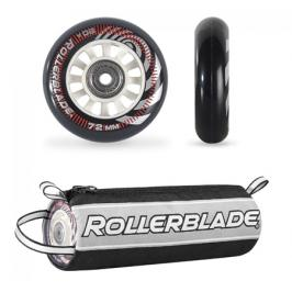 Inline kolečka Rollerblade 72 mm + ložiska SG5 + distanční vložky 6 mm