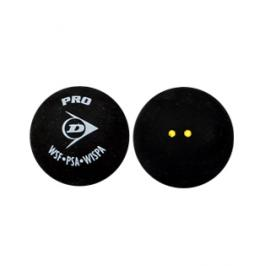 Míček pro squash Dunlop - 2 žluté tečky 1 kus
