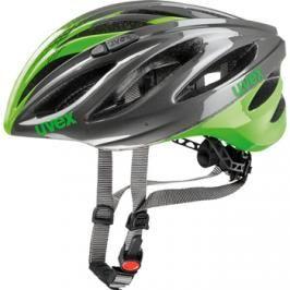 Cyklistická helma Uvex Boss Race šedo-zelená 2017